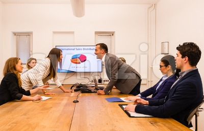 Conflict in the office Stock Photo