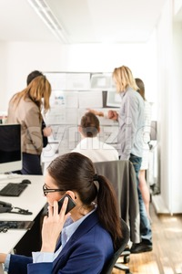 Working in a modern office Stock Photo