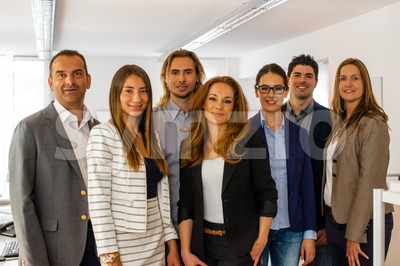 Portrait Of Business Team Stock Photo