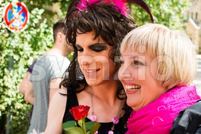 Claudia Roth on Christopher Street Day in Stuttgart, Germany Stock Photo