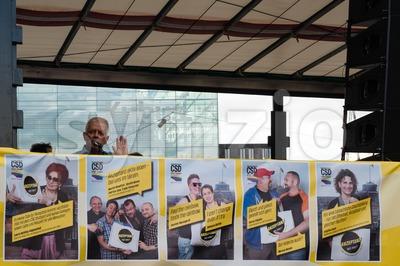 Fritz Kuhn on Christopher Street Day in Stuttgart, Germany Stock Photo