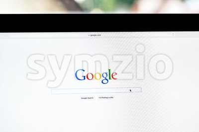 Google Search In A Browser Stock Photo