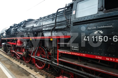 classic steam locomotive Stock Photo
