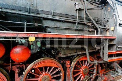detail of a classic steam locomotive Stock Photo