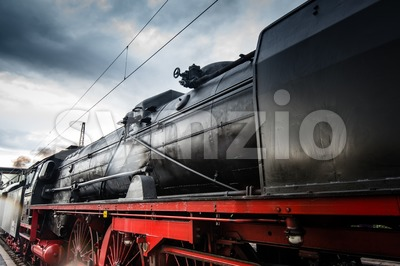 classic steam locomotive Stock Photo