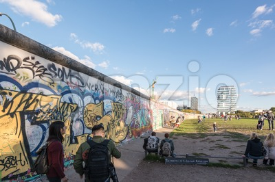 People at the Berlin East Side Gallery Stock Photo