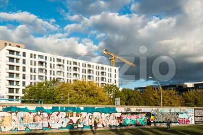Modern building at the Berlin East Side Gallery Stock Photo