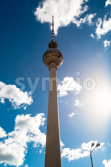 Berlin TV Tower Stock Photo