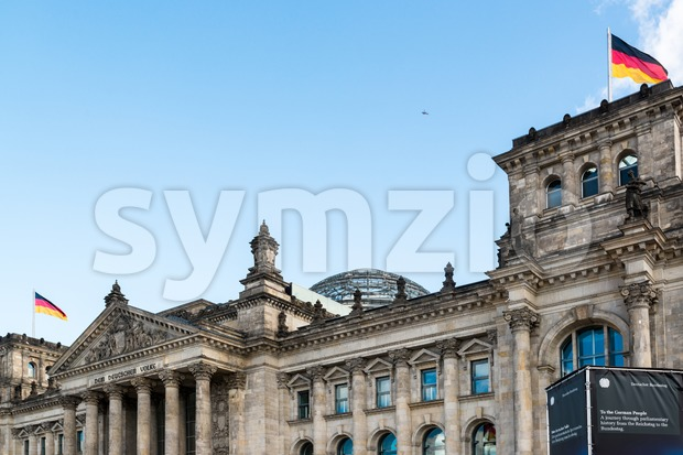 Reichstag building in Berlin, Germany Stock Photo