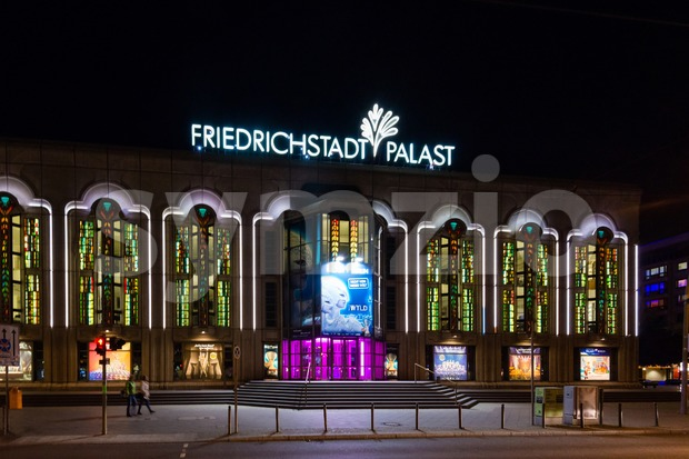 Friedrichstadt Palast at night Stock Photo