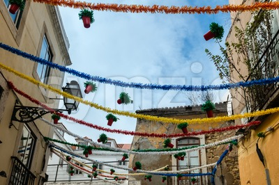 Street decoration in Lisboa Stock Photo