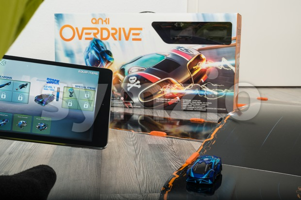 Anki Overdrive toy car racing Stock Photo