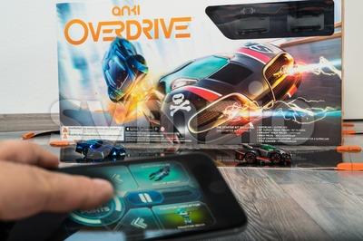 Anki Overdrive toy car racing Stock Photo
