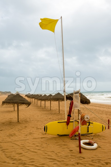 Lifeguard station on the beach Stock Photo