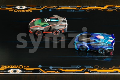 Anki Overdrive - modern toy car racing Stock Photo