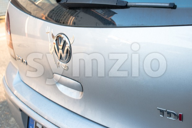 Volkswagen TDI Devil Stock Photo