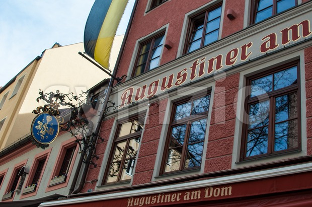 Augustiner Building in Munich, Germany Stock Photo