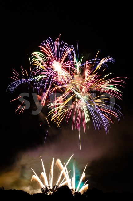 Fireworks with space for your text Stock Photo
