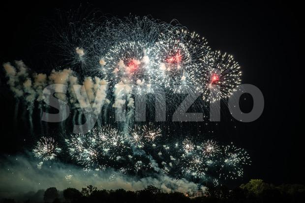 Large fireworks display Stock Photo
