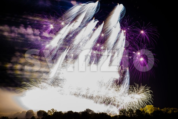 Large fireworks display Stock Photo