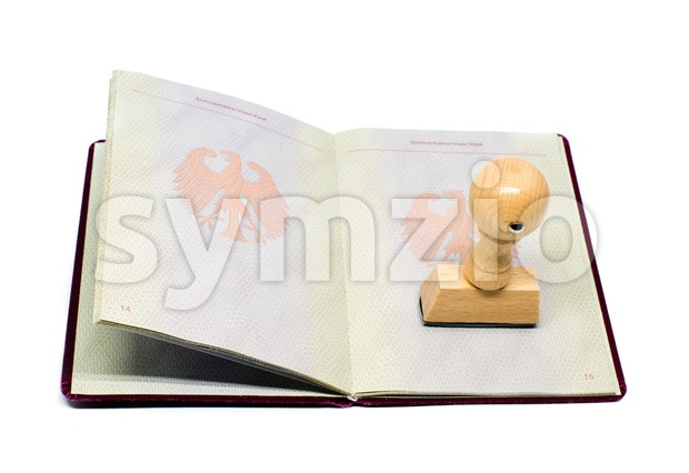 German immigration approved Stock Photo