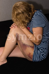 Domestic violence against woman Stock Photo