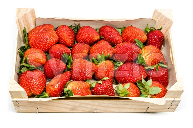 Strawberries in a box Stock Photo