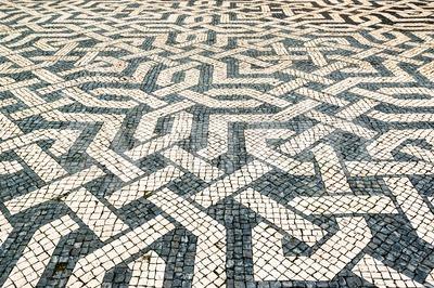 granite pavement Stock Photo