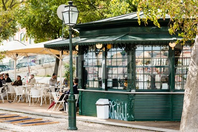 Typical Lisbon Kiosk Stock Photo
