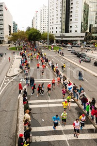 Lisbon Marathon 2015 Stock Photo