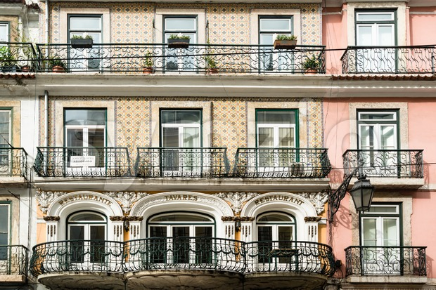 Typical Lisbon architecture, Portugal Stock Photo