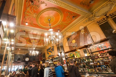 Beautiful Cafe Brasileira in Lisbon, Portugal Stock Photo