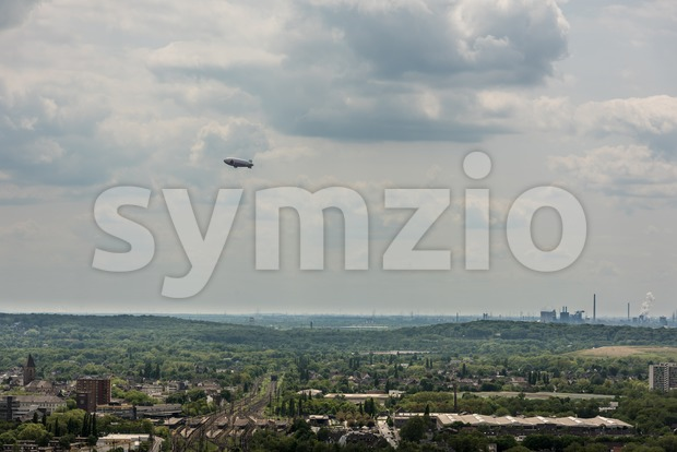 Aerial view of Ruhr area and its plants Stock Photo