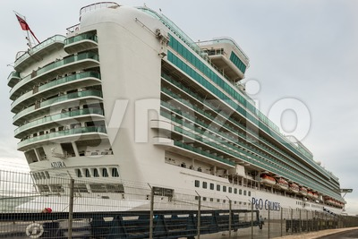 Cruise ship at Lisbon, Portugal Stock Photo