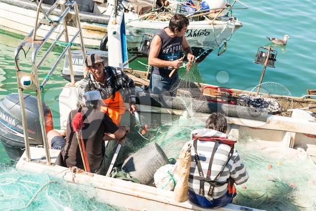 Commercial Fishing Stock Photo