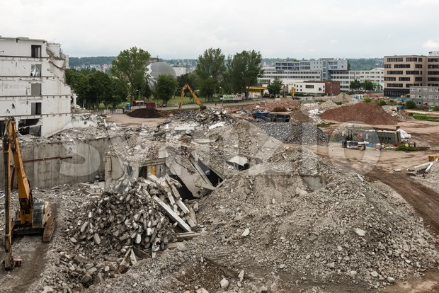 Large demolition site Stock Photo