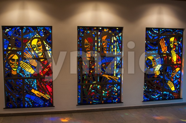 Stained-glass Church Windows Stock Photo