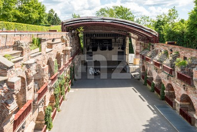 Open Air theatre Kasematten on the Schlossberg, castle rock, in Graz, Austria Stock Photo