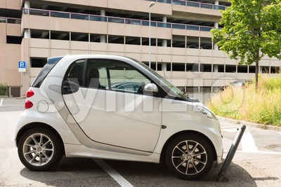 Incorrect parking car Stock Photo