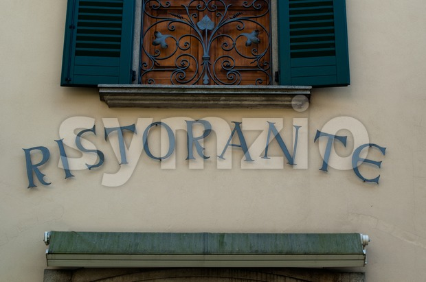 Italian Restaurant sign Stock Photo