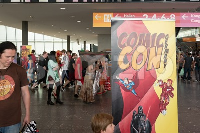 Visitors of the Comic Con Germany in Stuttgart Stock Photo