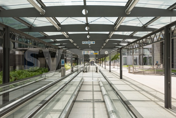 Airport Terminal Stuttgart (Germany) Stock Photo