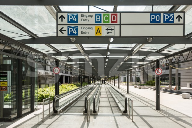 Airport Terminal Stuttgart (Germany) Stock Photo