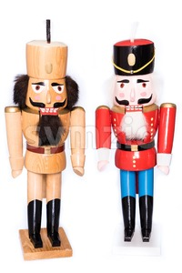 Two antique nutcrackers Stock Photo
