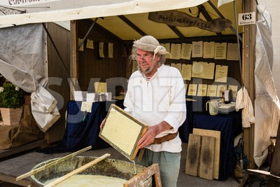 Historic Paper Production Stock Photo