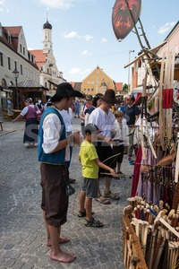 Trade at historic festival Stock Photo