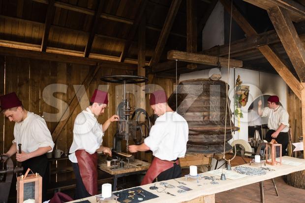 Historic Coppersmith Workshop Stock Photo