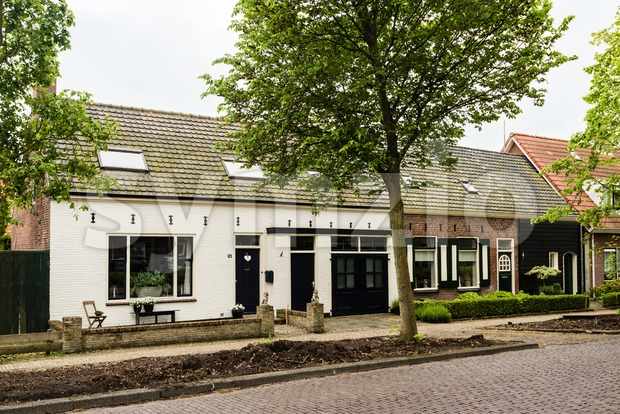 Beautiful Dutch houses Stock Photo