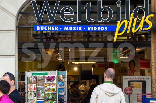 Weltbild store in Munich Stock Photo