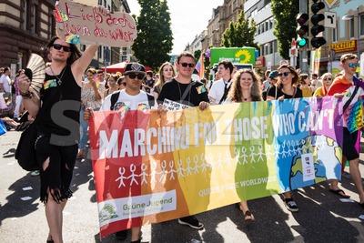 Christopher Street Day 2016 in Stuttgart, Germany Stock Photo